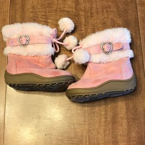 Faded Glory Toddler Girl Pink Suede Boots Size 5